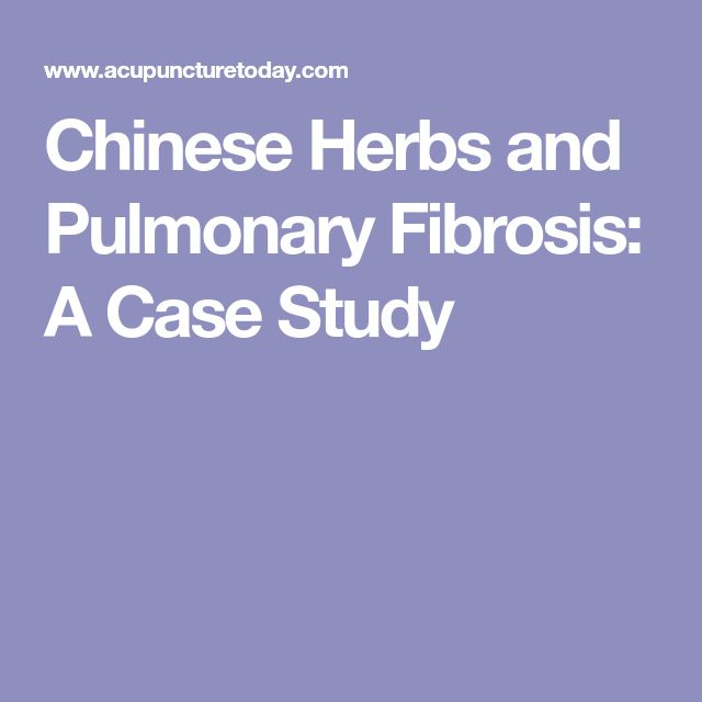 Chinese Herbs and Pulmonary Fibrosis: A Case Study