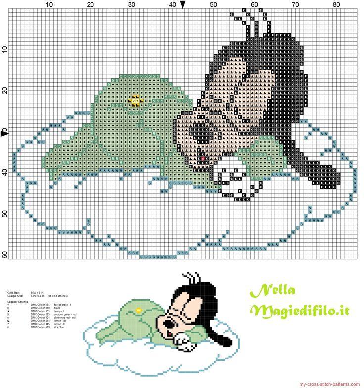 Baby Goofy sleeping on cloud