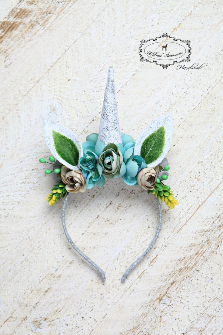 unicorn headband, magic,fantasy,birthday party,style photo session,photo prop, winter wonderland by OhDearAccessories on Etsy
