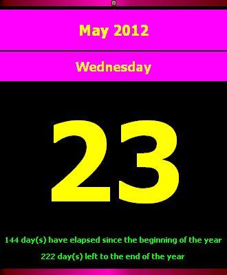Calendar Page Desktop Clock