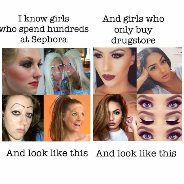 I buy drugstore and Sephora. Yes I thankfully look like the good side. Unlike some posers who knocked my wearing makeup always said I don't like it. Now they talk about makeup and like to say they love it while their google and instgram picture looks like the one on the left lmbo #sorrynotsorry