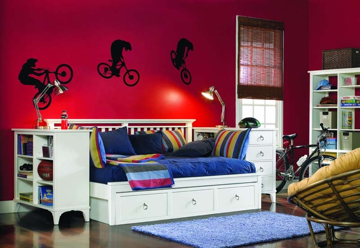 Bmx theme room for the modern teen teen boys room ideas for Modern day bedroom designs