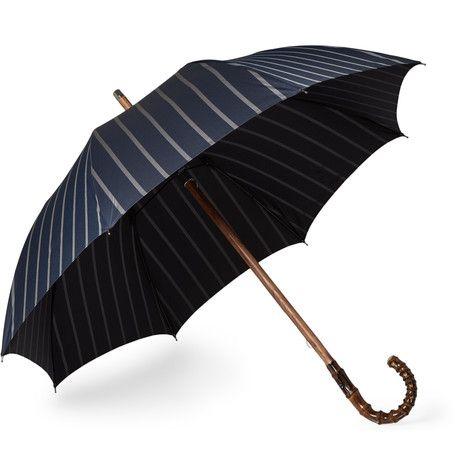 Striped Bamboo-Handle Umbrella  | MR PORTER Francesco Maglia $460