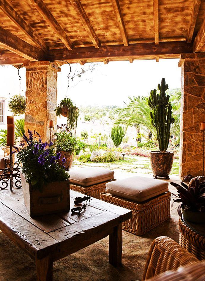 85 best Hacienda Homes images on Pinterest | Haciendas ... on Mexican Backyard Decor id=85928