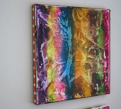 Afeitarse lápices de colores en Cualquier color / del patrón de la ONU Sobre lienzo, CUBRA estafa Papel encerado y Planchar Todo el lienzo! Los crayones ...