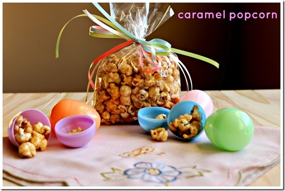 Easter treat - caramel popcorn | 2 Sisters 2 Cities | Pinterest