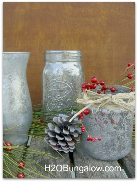 diy mercury glass with craft paint or looking glass spray paint, crafts, painting, seasonal holiday decor, The results are beautiful and slightly different for each style