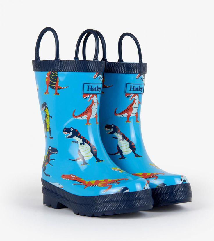Hatley Boys' Rain Boots Roaring T-Rex