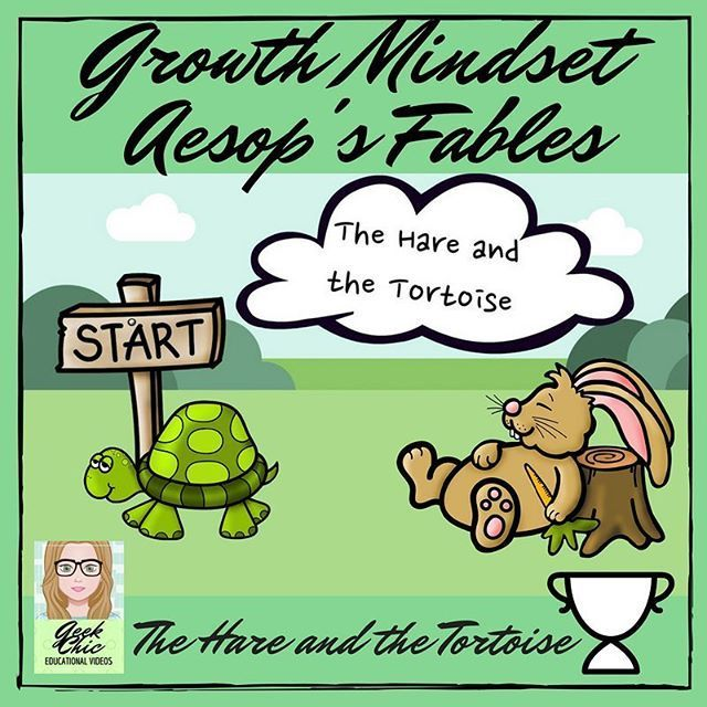 Start the year by getting your students into a growth mindset with this Growth Mindset Aesop's Fable VIDEO KIT! A short HD QUALITY video of Aesop's Fable The Tortoise and the Hare, which ends with one minute of growth mindset quotes related to the fable f