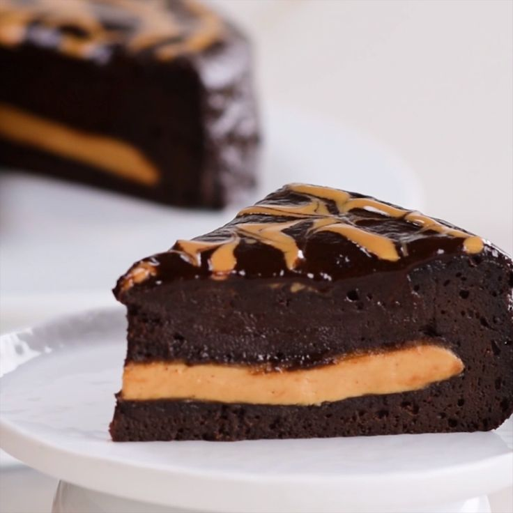 Chocolate Peanut Butter Swirl Cake
