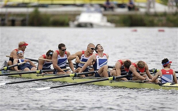 Britain's men's eight - men's eight win bronze to add to GB rowing medals