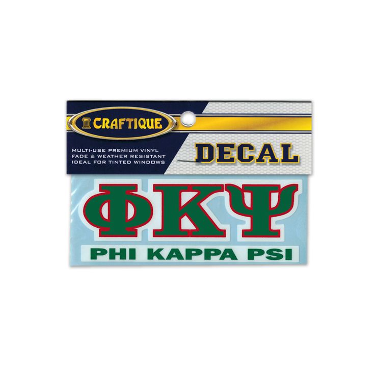 Phi Psi Greek Letter Decal