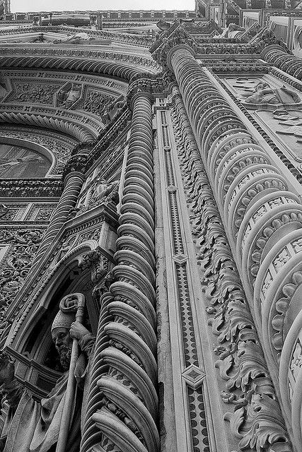 Duomo: West Front Detail, Florence, Italy  We have stood and gazed in wonder at this building!