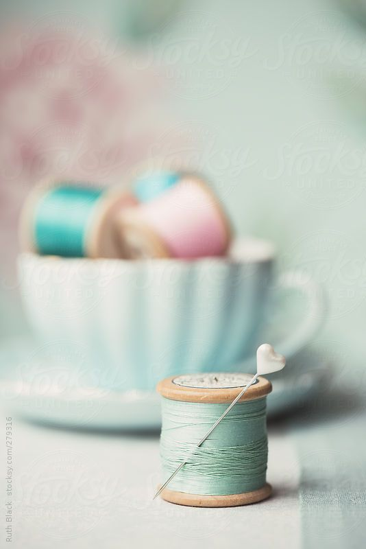 Vintage wooden cotton reels by RuthBlack | Stocksy United