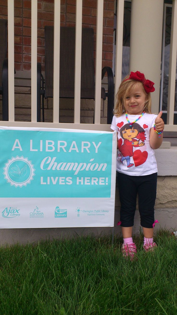 A big congratulations to Milana from Oshawa, for being a participant in the TD Summer Reading Club and for becoming a Library Champion! Thank you for sharing your summer with us!