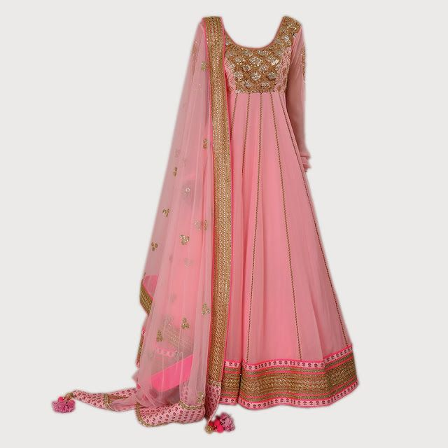 NIKASHA. Embroidered floor length anarkali with separators and embroidered dupatta Rs54,500