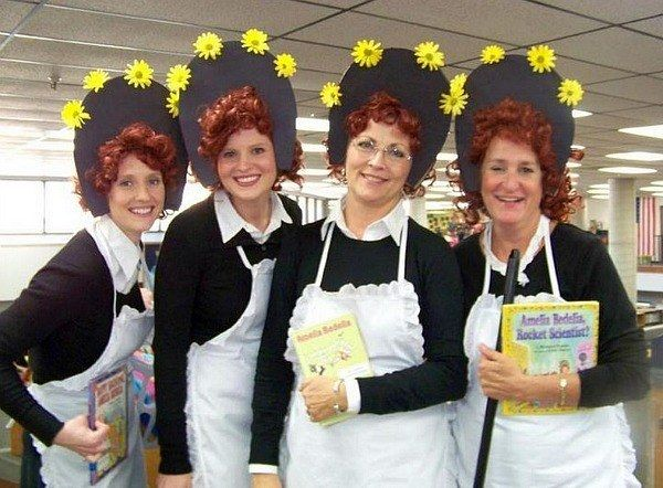 Amelia Bedelia X 4 | Community Post 24 Awesome Kidsu0027 Book-Inspired Halloween  sc 1 st  Pinterest & The 17 best images about Book week costumes on Pinterest | Halloween ...