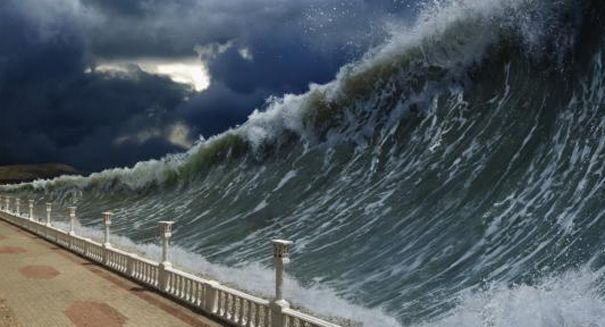 """the """"Mega-Tsunami"""" — an 800-foot wave that smashed the Cape Verde Islands 73,000 years ago.A new study published in the journal Science Advances found that a megatsunami in the Cape Verde Islands, which sits off the coast of Africa, formed when a huge piece of the volcanic island of Fogo collapsed, blasting rock into the water and creative a huge wave that started out at more than 300 feet tall. Mega-Tsunami: Scientists astonished to discover ancient 800-foot wave."""