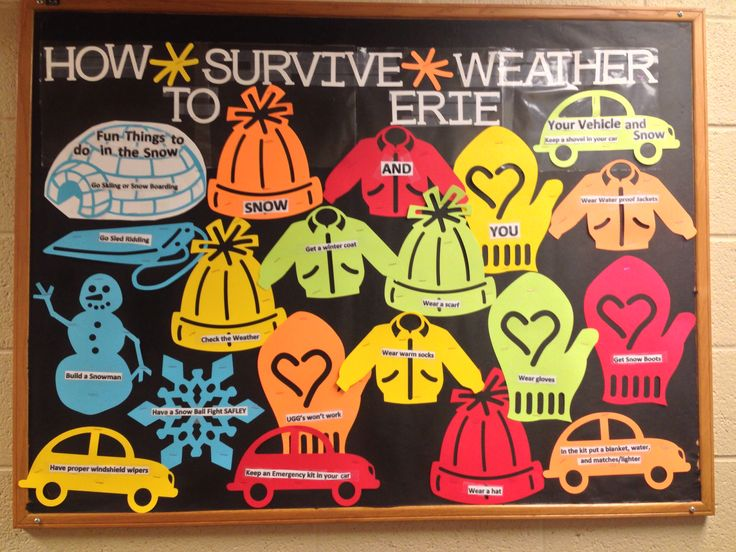 RA Bulletin board in how to survive cold weather. Thanks for the idea Carissa
