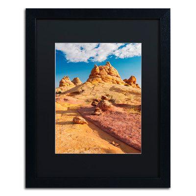 Trademark Art 'Viking Horns' by Michael Blanchette Framed Photographic Print
