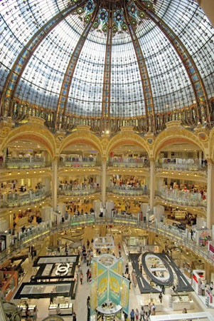 Galeries Lafayette remains Paris' most popular department store. Opened in 1896, with a lobby capped by an early-1900s stained-glass cupola classified as a historic monument, this store could provision a small city.