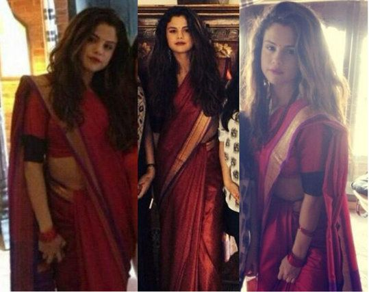 selena gomez in indian saree