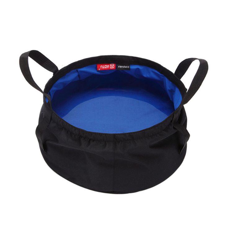 Camping Water Bag Ultra-light 8.5L Outdoor Survival Folding Washbasin Camping Basin Foldable Water Pot Wash Basins Equipment