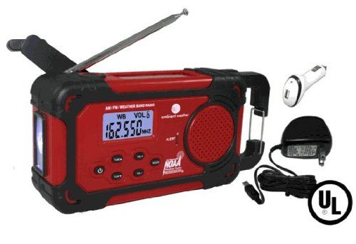 Ambient Weather WR-334-U Emergency Solar Hand Crank Weather Alert Radio, Flashlight, Siren, Smart Phone Charger Ambient Weather http://smile.amazon.com/dp/B00A81ICCE/ref=cm_sw_r_pi_dp_YsLTtb06MPMAN9H2