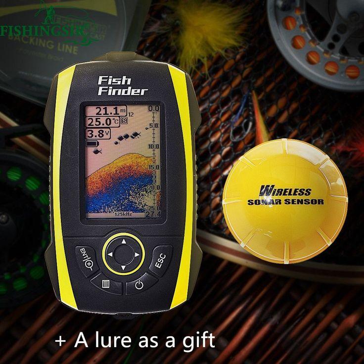 Wireless Depth Sounder Fish Finder Underwater Fishing Camera Pesca Sonar Sensor Fishfinder Detector Transducer Russian English