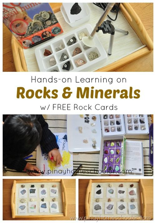 Hands on learning on Rocks and Minerals with Free rock cards