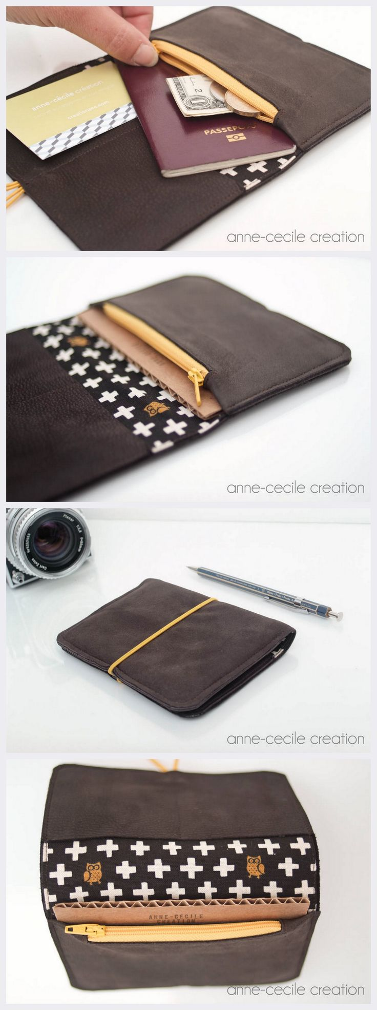 brown leather wallet. 38€. WorldWide Shipping. Made in France.