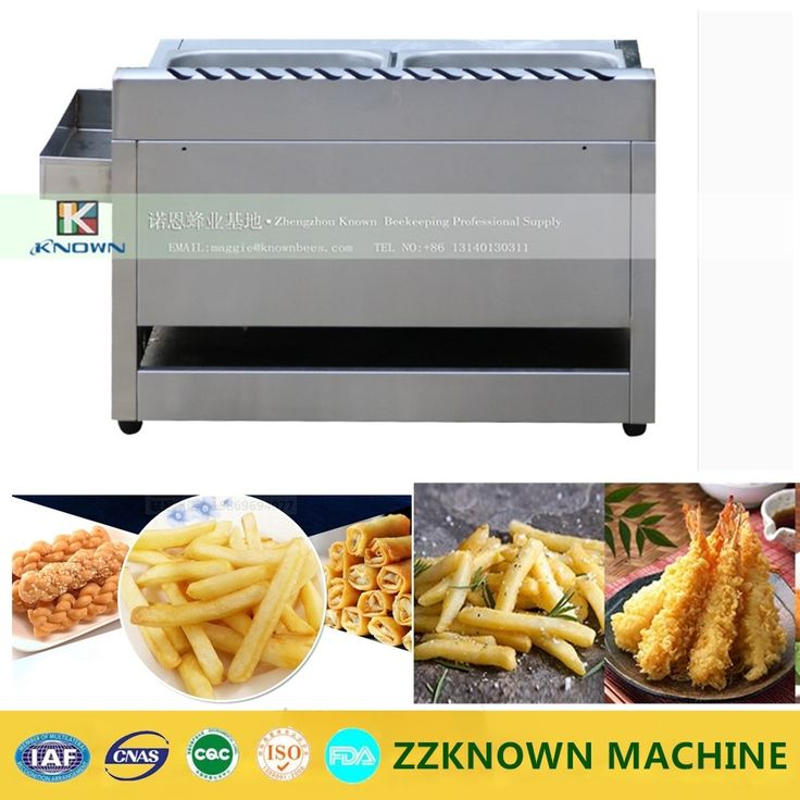 110.97$  Buy now - http://alipbd.worldwells.pw/go.php?t=32721324225 - Double Baskets pan Commercial Chicken Gas Deep Fryer with Gas heating Safety
