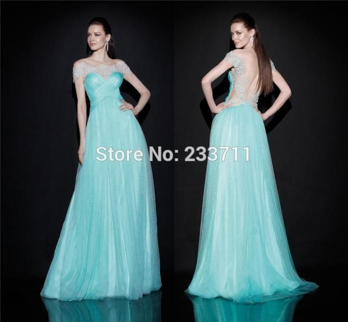 V шея A линия светло-синий вечерние платья для беременных женщины Tull кружево с низким вырезом на спине Vestidos Noite 11114