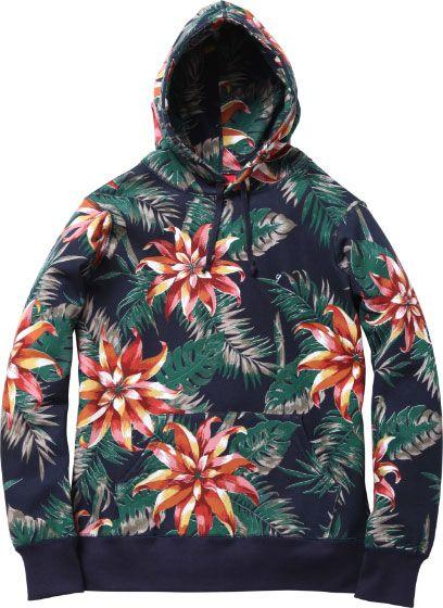 Supreme Floral Hoodie S/S 2012
