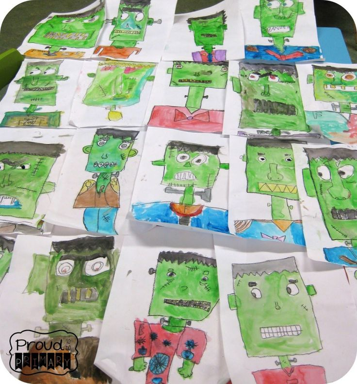 This Frankenstein directed drawing activity would so fun to do with students during October.