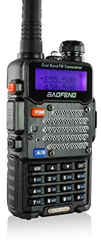 My FAVORITE inexpensive Ham radio...Baofeng Black UV-5R V2+ Plus (USA Warranty) Dual-Band 136-174/400-480 MHz FM Ham Two-way Radio, Improved Stronger Case, Enhanced Features