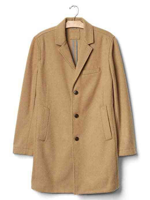 NWT Gap Mens $198 Wool Blend Crombie Coat Camel sz Medium  #465555