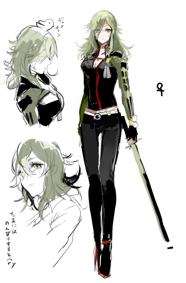 Uguisumaru as a girl~ I art it!!!