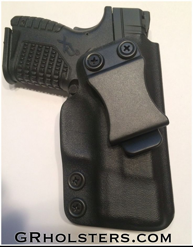 XDs IWB Kydex holster with adjustable retention. 15 degree cant, deep cover ride height. Get yours at GRholsters.com.