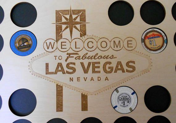 Las Vegas Poker Chip Display Frame Insert SALE Laser-engraved