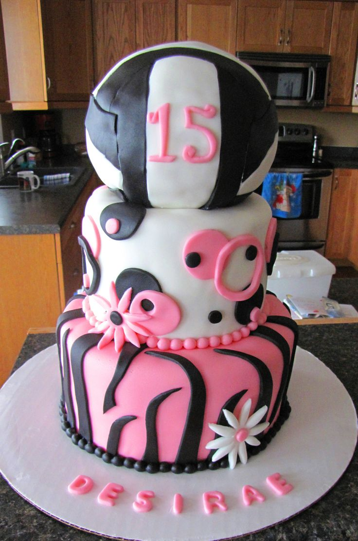 17 Best Ideas About Volleyball Birthday Cakes On Pinterest