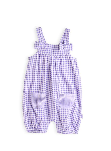 Pumpkin Patch - all in ones - gingham all in one - S3BG20019 - lavender - 0-3m to 12-18m
