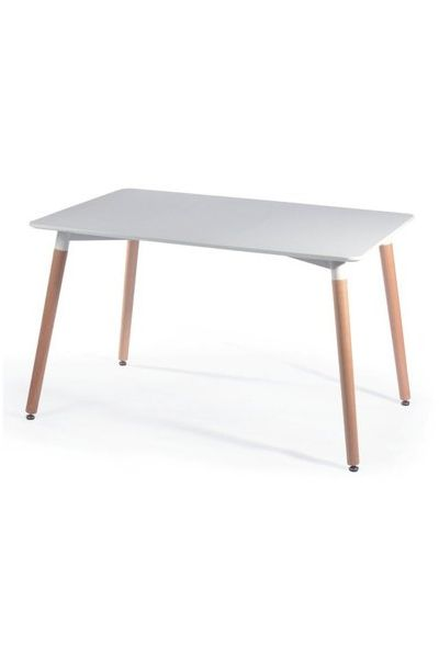 MDF top /natural beech wood leg finish. Available in white top and natural wood leg. http://www.chaircrazy.co.za #Decor #SouthAfrica #Interiors