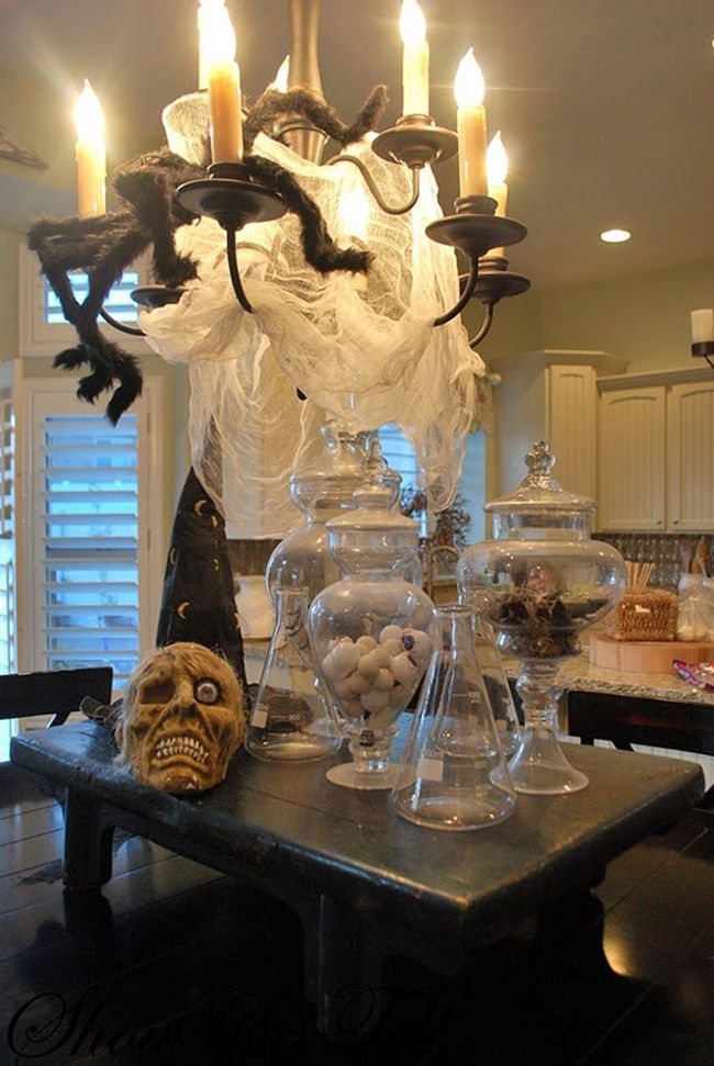 superb Halloween Kitchen Decorating Ideas #4: Spooky Halloween Kitchen Decorations to Spice Up Your Mood