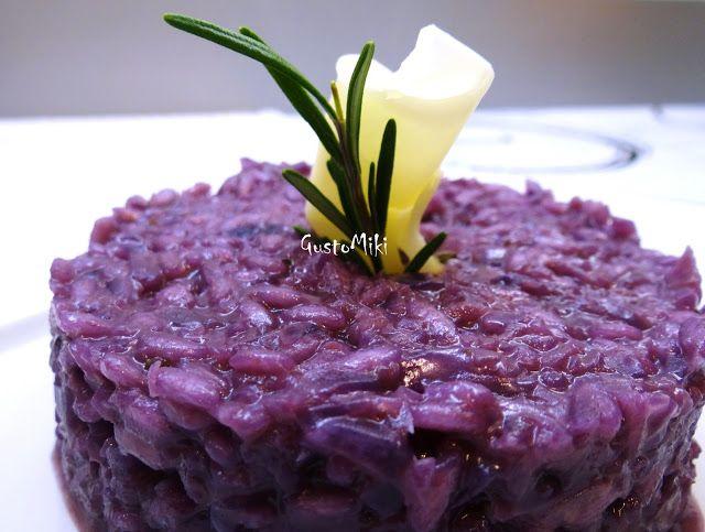 GustoMiki: E per il periodo viola ... risotto al cavolo rosso e scamorza!