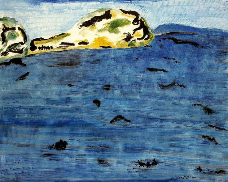 Milton Avery - Blue bay and dunes, 1961