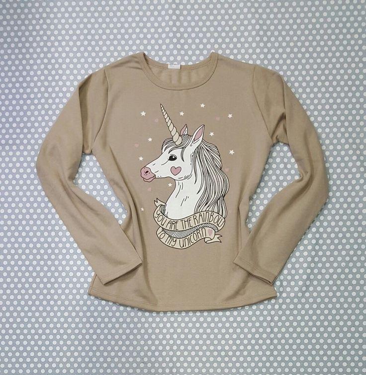 "Casaco Blusa Moletom Camel ""Unicórnio"", blusa unicornio, blusa feminina, blusa frio, blusa inverno, unicórnio, unicorns"