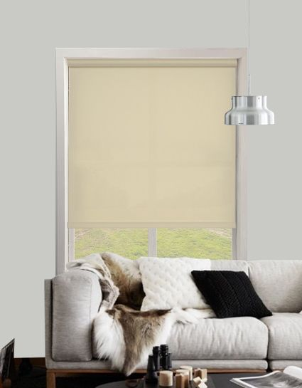 Bermuda Plain Beige Roller Blinds