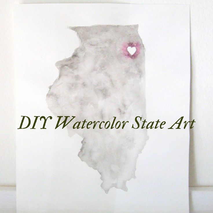 Watercolor State Art DIY and Tutorial at Mrs. Fancee blog