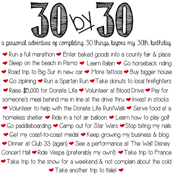 11 best dirty thirty bucket list things and ideas of what for To do before 40